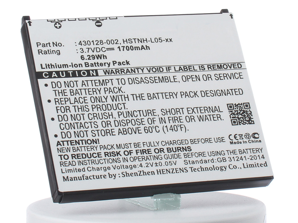Аккумулятор для телефона iBatt iB-HSTNH-L05C-M101 кабель hp ipaq 1950 2110 2190 2210 2410 2490 3715 4700