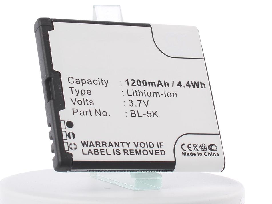 Аккумулятор для телефона iBatt iB-BL-5K-M317 аккумулятор nano tech аналог bl 4u 1000mah для nokia 3120 arte e66 5530