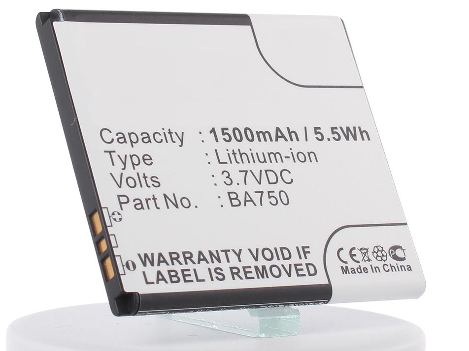 Аккумулятор для телефона iBatt iB-BA750-M346 ba750 3 7v 1500mah cellphone battery for sony lt18i lt15i x12 xperia arc grey