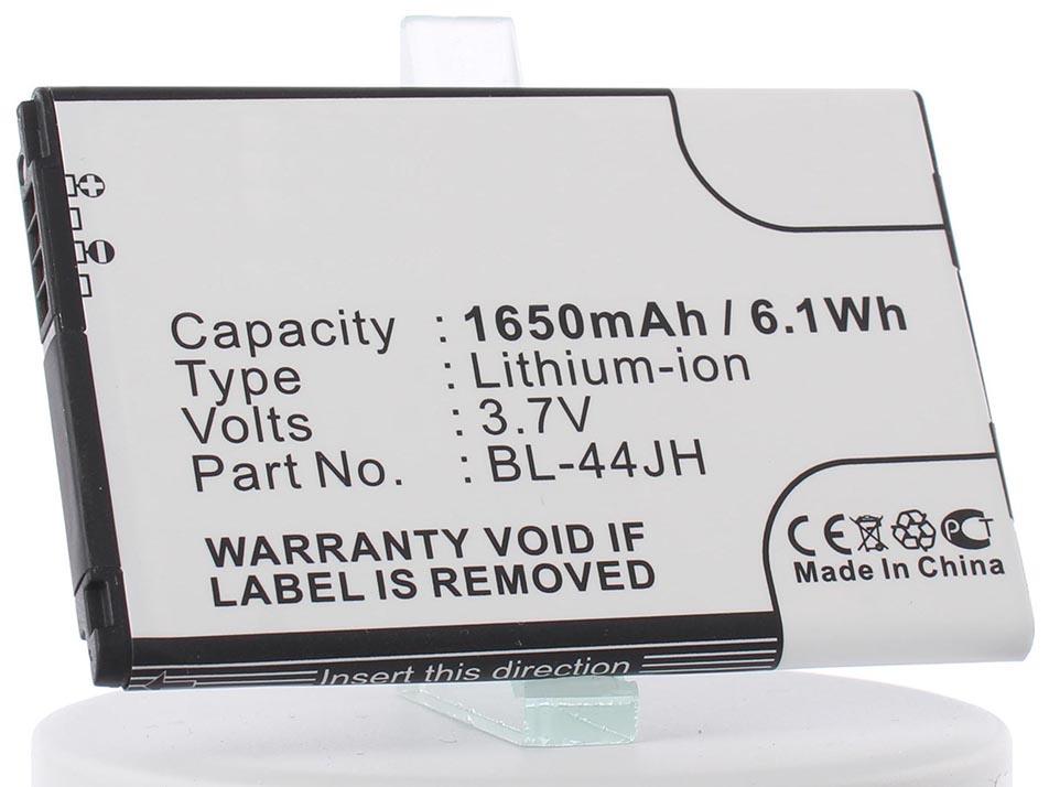 Аккумулятор для телефона iBatt iB-BL-44JH-M462 чехол для lg e450 optimus l5 ii ibox premium white