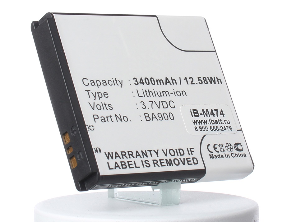 Аккумулятор для телефона iBatt iB-BA900-M474