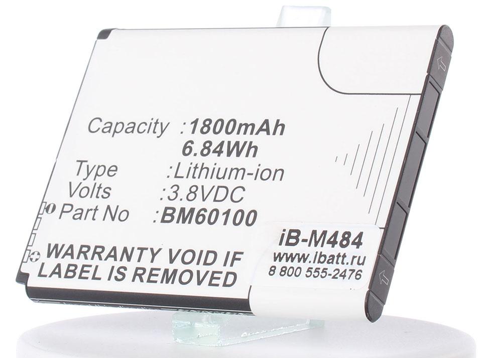 Аккумулятор для телефона iBatt iB-BM60100-M484 аккумулятор для телефона ibatt ib ba s530 m336