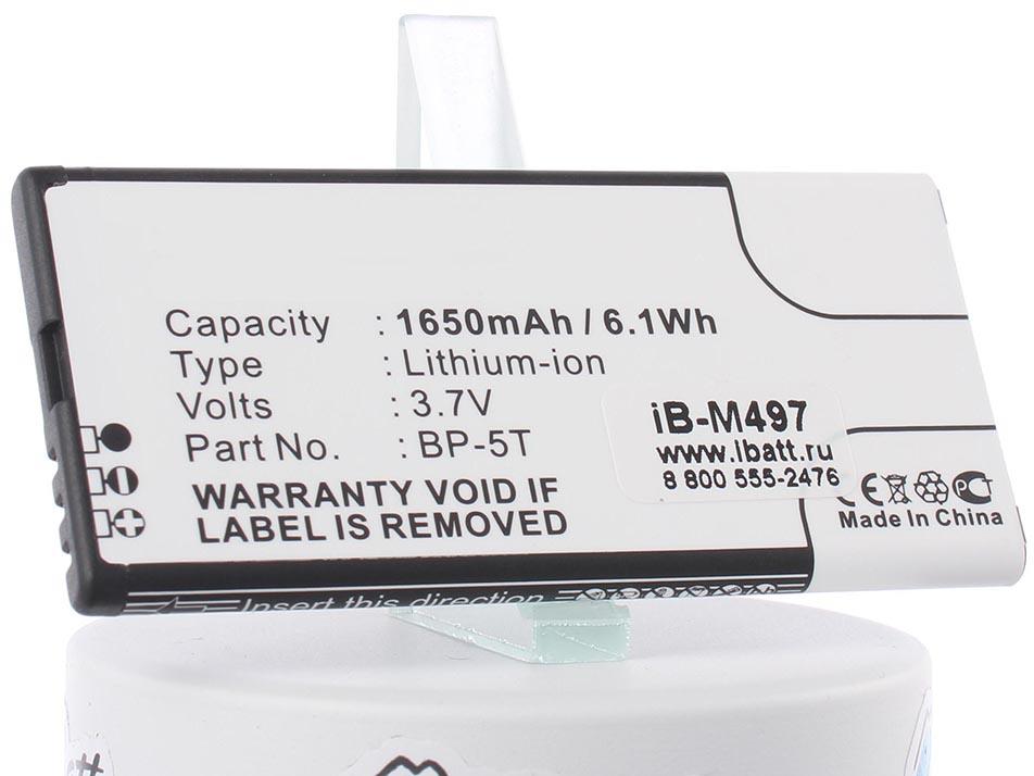 Аккумулятор для телефона iBatt iB-BP-5T-M497 портативный рекордер tascam аккумуляторная батарея bp l2