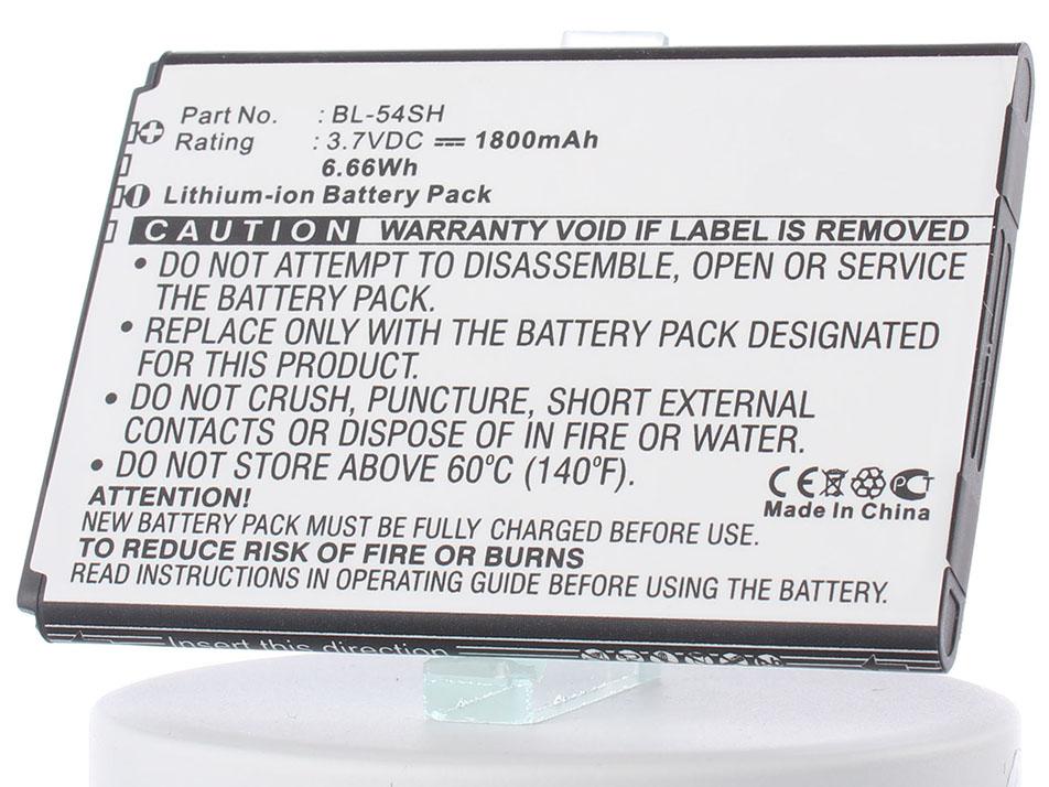 Аккумулятор для телефона iBatt iB-BL-54SH-M548 аккумулятор для телефона craftmann bl 53yh для lg d855 g3 с увеличенной ёмкостью до 5900 mah и крышкой чёрного цвета