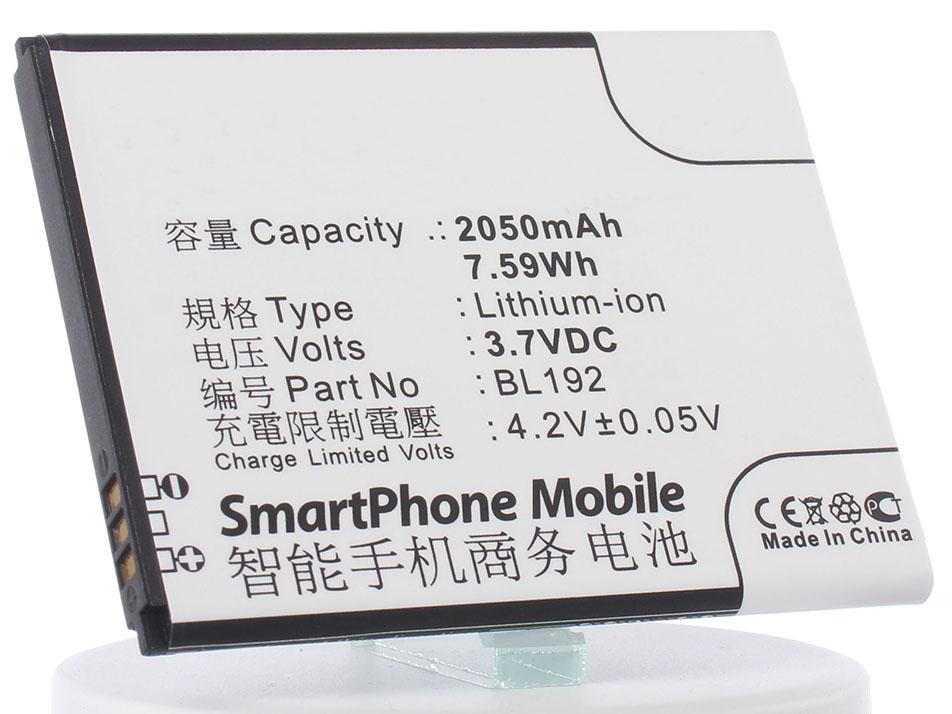 Аккумулятор для телефона iBatt iB-BL192-M589 аккумулятор для телефона ibatt bl208 для lenovo s920 s920 ideaphone