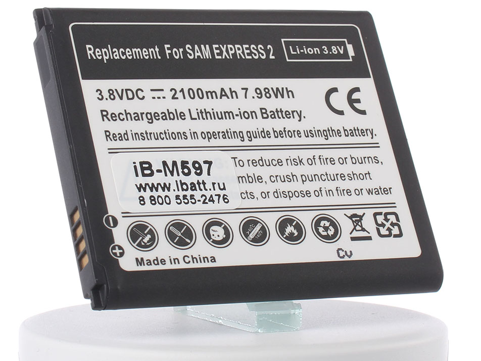 Аккумулятор для телефона iBatt iB-EB-L1L7LLU-M597 аккумулятор samsung eb bg900b для galaxy s5