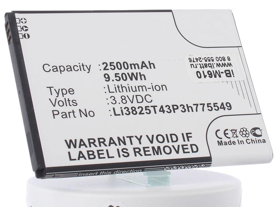 Аккумулятор для телефона iBatt iB-LI3825T43P3H775549-M610 аккумулятор для телефона ibatt bl5203 для fly iq442 quad miracle 2 iq442 quad miracle 2