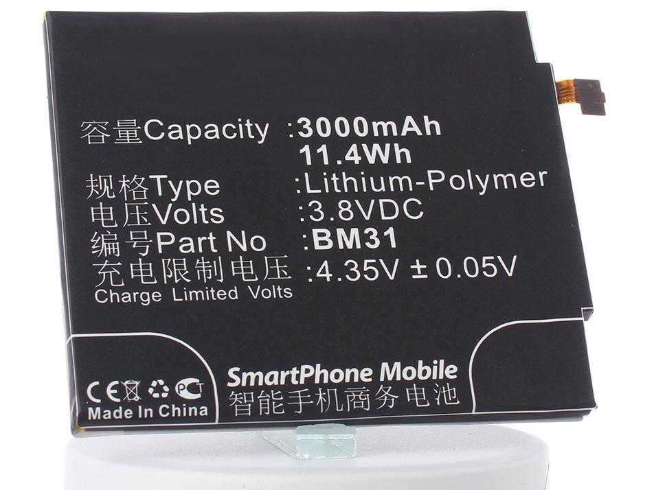 Аккумулятор для телефона iBatt iB-BM31-M654 аккумулятор для телефона ibatt ib bl3815 m1760