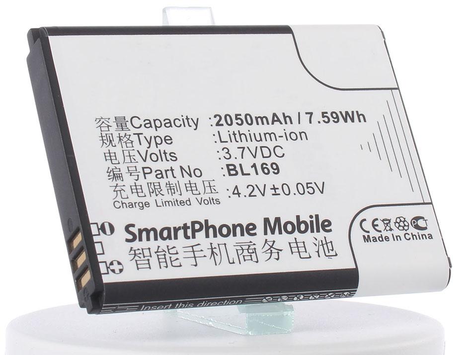 Аккумулятор для телефона iBatt iB-BL169-M673 аккумулятор для телефона ibatt bl169 для lenovo s560 a789 p70
