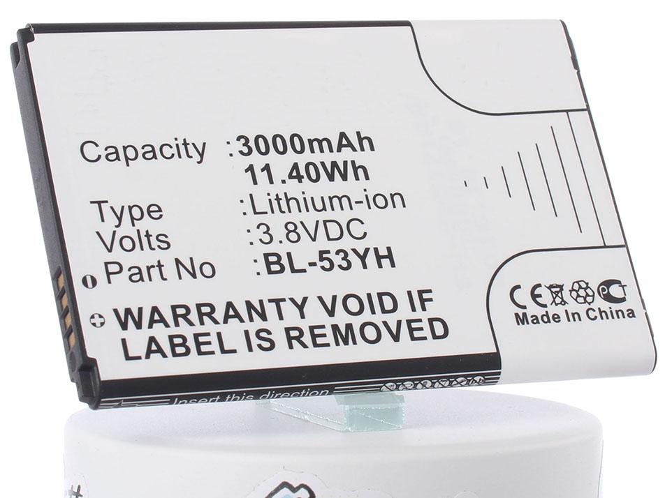 Аккумулятор для телефона iBatt iB-BL-53YH-M718 original bl 53yh battery for lg optimus g3 d830 d850 d851 d855 ls990 vs985 f400 3000mah