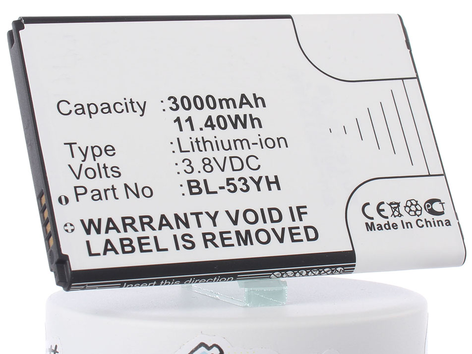 Аккумулятор для телефона iBatt iB-BL-53YH-M718 аккумулятор для телефона ibatt bl 53yh для lg d855 g3 d690 d690 g3 stylus d851 g3 d850 g3 d856 lg g3 dual lte vs985 g3 ls990 g3 d690n f400 g3 aka