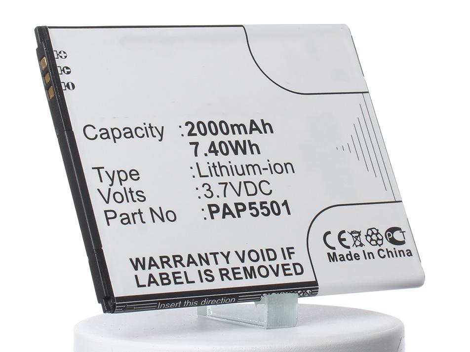 Аккумулятор для телефона iBatt iB-PAP5501-M844 аккумулятор для телефона ibatt ib prestigio multiphone 4322 duo m846