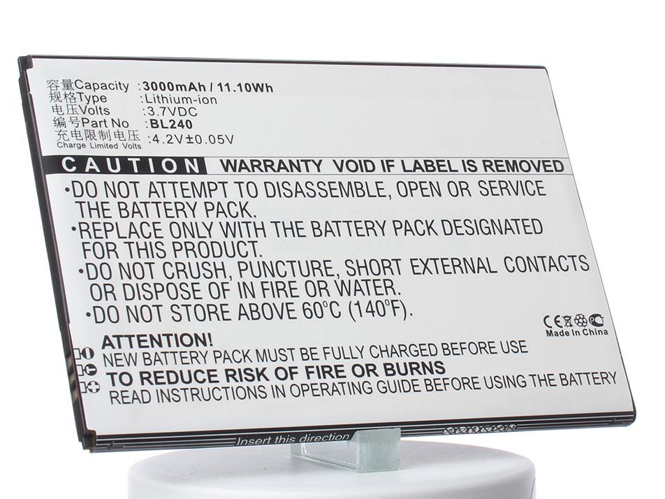Аккумулятор для телефона iBatt iB-BL240-M845 аккумулятор для телефона ibatt bl240 для lenovo a936 a936 note 8