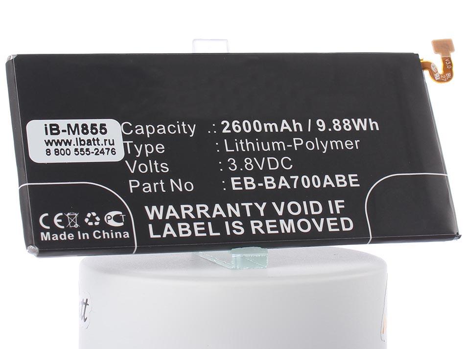 Аккумулятор для телефона iBatt iB-EB-BA700ABE-M855 внешний аккумулятор samsung eb pn930csrgru 10200mah серый