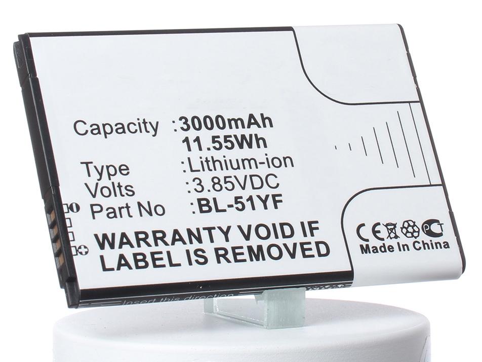Аккумулятор для телефона iBatt iB-BL-51YF-M865 аккумулятор для телефона craftmann bl 53yh для lg d855 g3 с увеличенной ёмкостью до 5900 mah и крышкой чёрного цвета