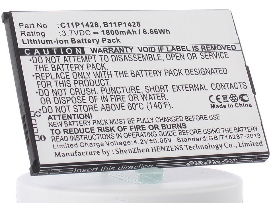 Аккумулятор для телефона iBatt iB-C11P1428-M917 чехол с флипом для asus zenfone 2 laser ze500kl ze500kg df aflip 04
