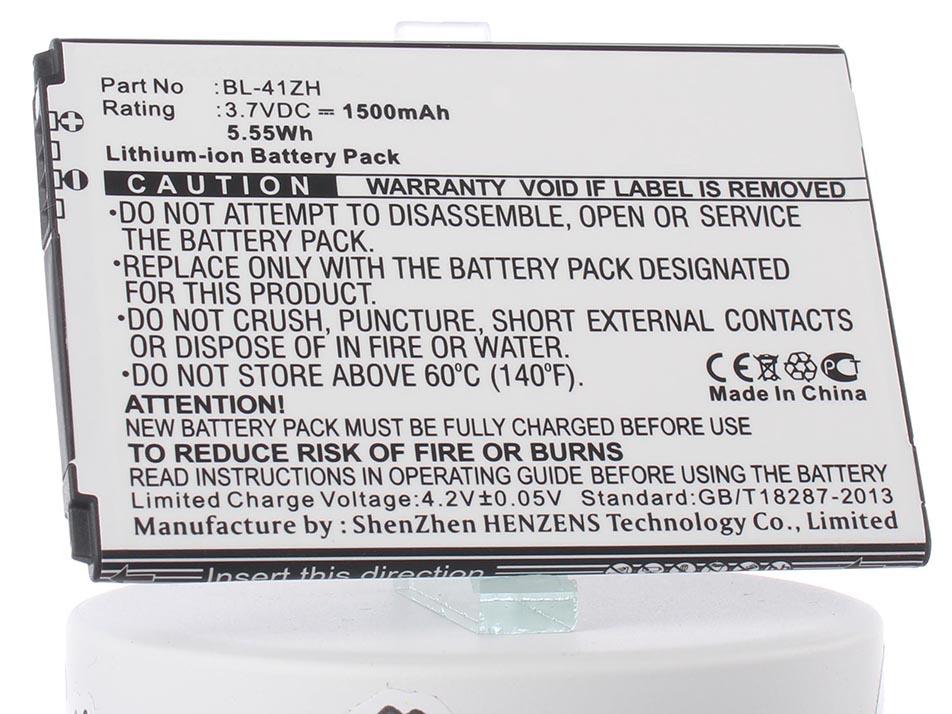 Аккумулятор для телефона iBatt iB-BL-41ZH-M932 аккумулятор для телефона craftmann bl 53yh для lg d855 g3 с увеличенной ёмкостью до 5900 mah и крышкой чёрного цвета
