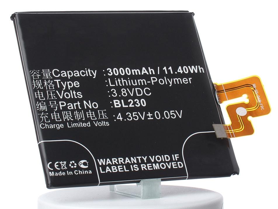 Аккумулятор для телефона iBatt iB-BL230-M966 аккумулятор для телефона ibatt bl267 для lenovo vibe k6