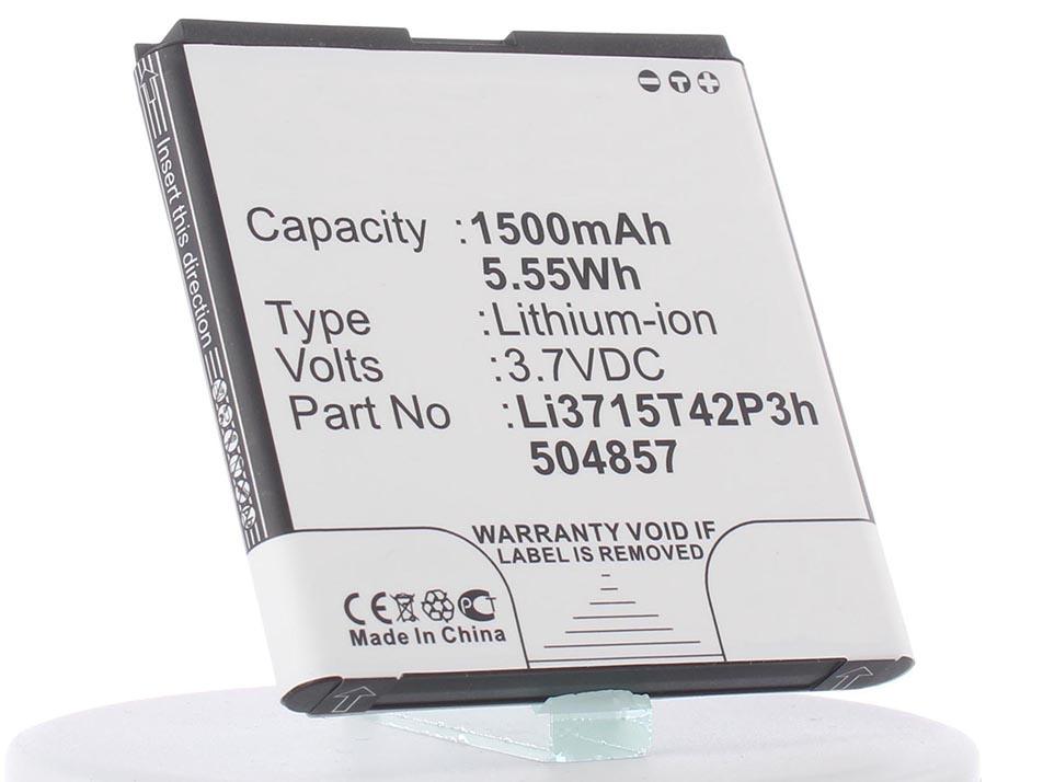 Аккумулятор для телефона iBatt iB-Li3712T42P3H504857-H-M970 аккумулятор для телефона ibatt ib li3715t42p3h504857 m970