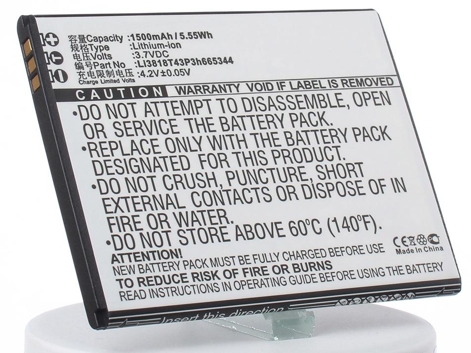 Аккумулятор для телефона iBatt iB-Li3818T43P3h665344-M1264 аккумулятор для телефона ibatt ib lis1502erpc m501