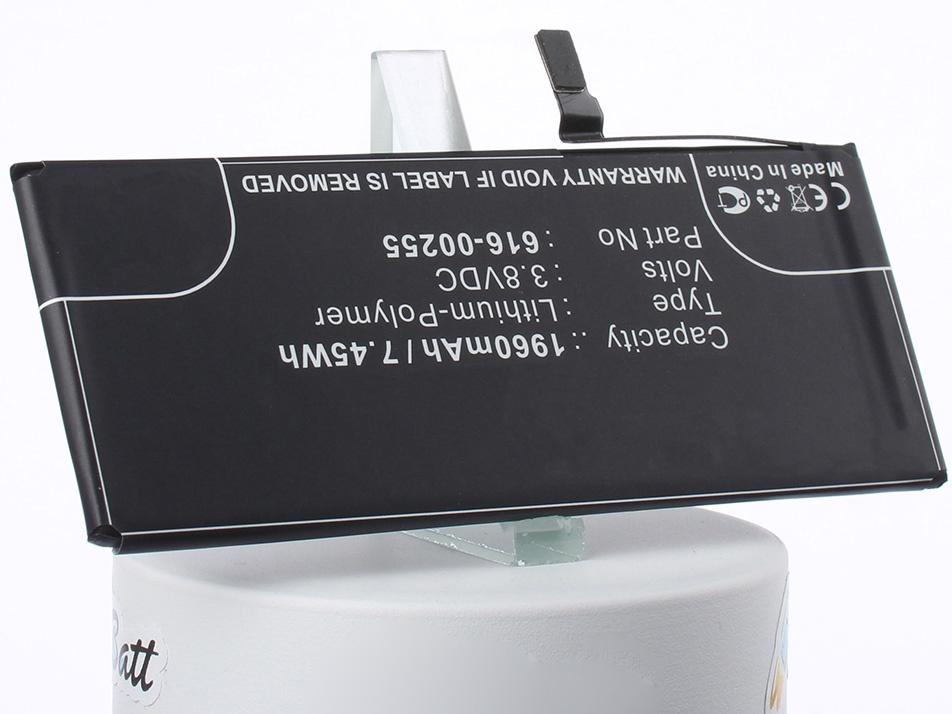 Аккумуляторная батарея iBatt iB-616-00255-M1269 1960mAh. аккумулятор для телефона apple iphone 7 616 00256 1960mah