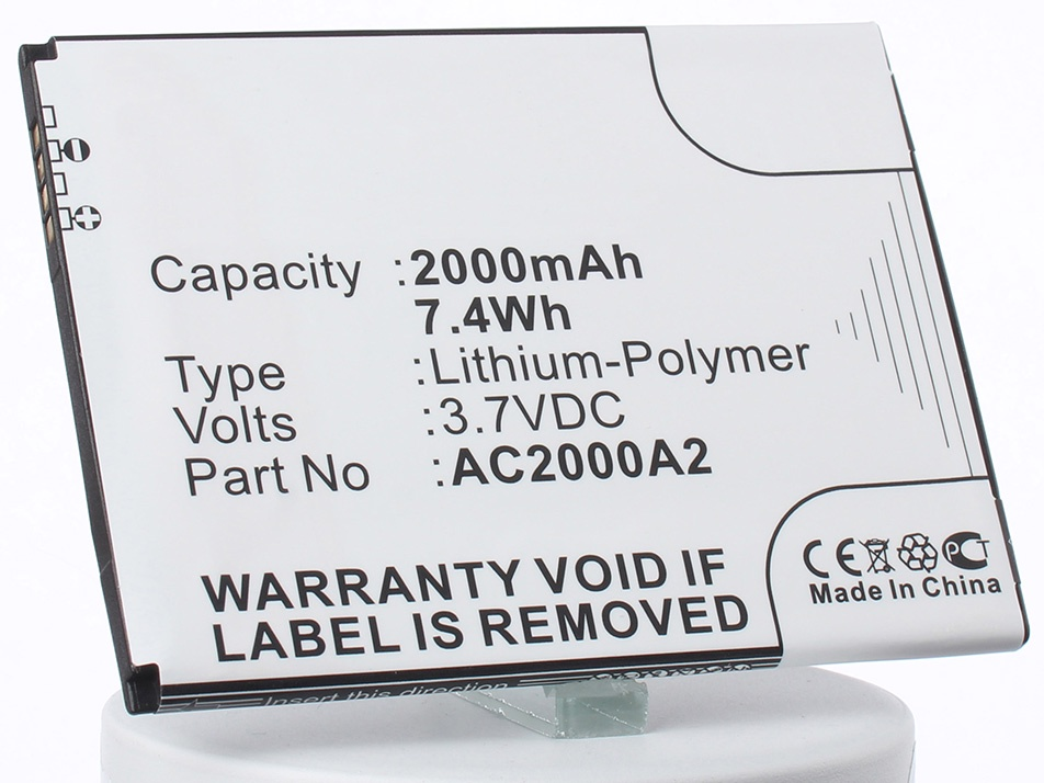 Аккумулятор для телефона iBatt iB-AC2000A2-M1277 аккумулятор для телефона ibatt ib bl3815 m1760