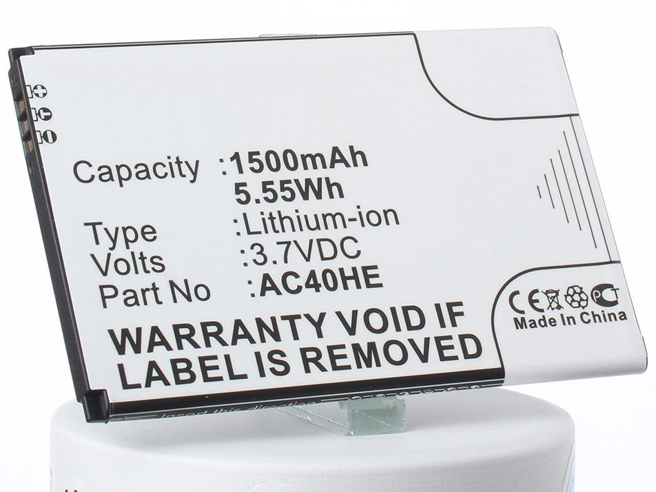 Аккумулятор для телефона iBatt iB-AC40HE-M1283 аккумулятор для телефона ibatt ib lis1502erpc m501