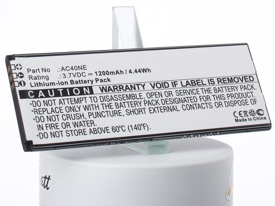 Аккумулятор для телефона iBatt iB-AC40NE-M1284 аккумулятор для телефона ibatt ib lis1502erpc m501