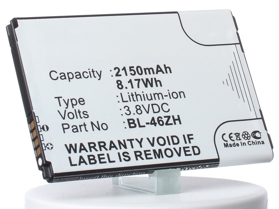 Аккумулятор для телефона iBatt iB-BL-46ZH-M1347 аккумулятор для телефона craftmann bl 53yh для lg d855 g3 с увеличенной ёмкостью до 5900 mah и крышкой чёрного цвета