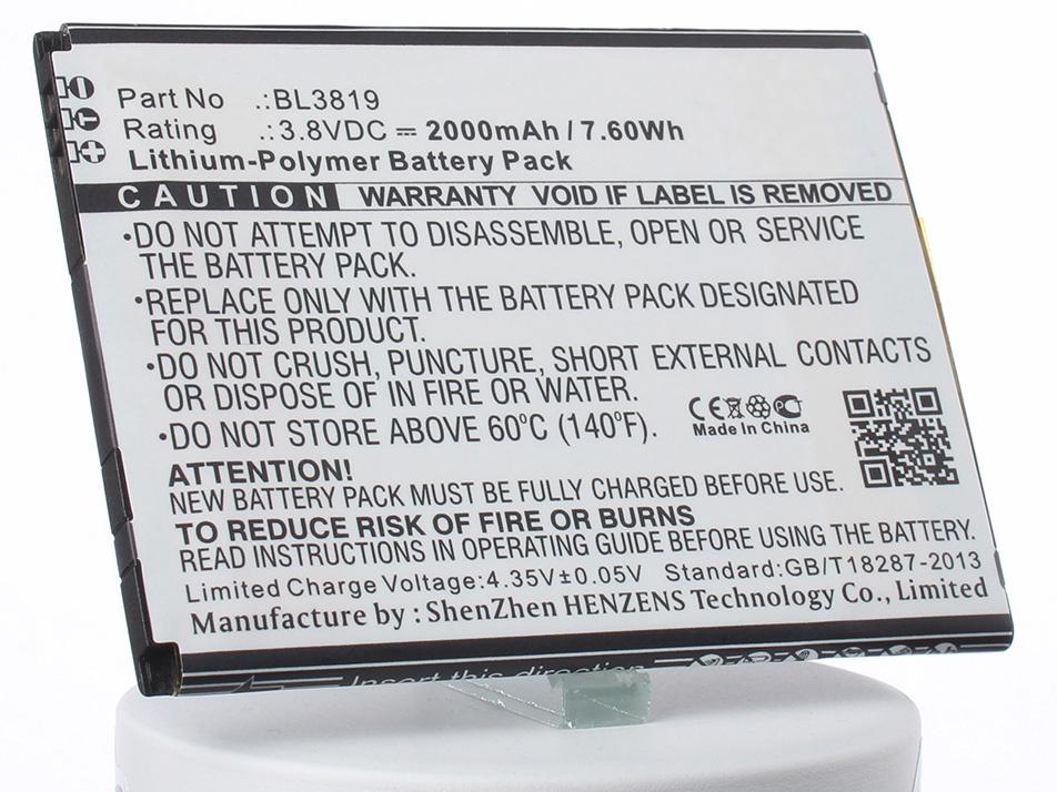 Аккумулятор для телефона iBatt iB-BL3819-M1761 аккумулятор для телефона ibatt bl3819 для fly iq4514 iq4514 quad evo tech 4