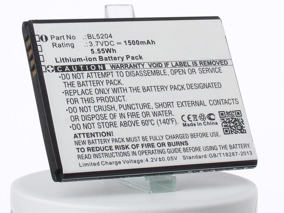 Аккумулятор для телефона iBatt iB-BL5204-M1763 аккумулятор для телефона ibatt bl4237 для fly iq245 iq245 wizard iq246 iq430 evoke