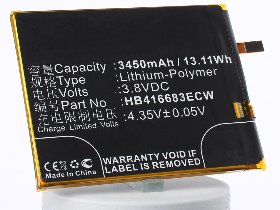 Аккумулятор для телефона iBatt iB-HB416683ECW-M1832 аккумулятор для телефона ibatt ib bp 6p m312