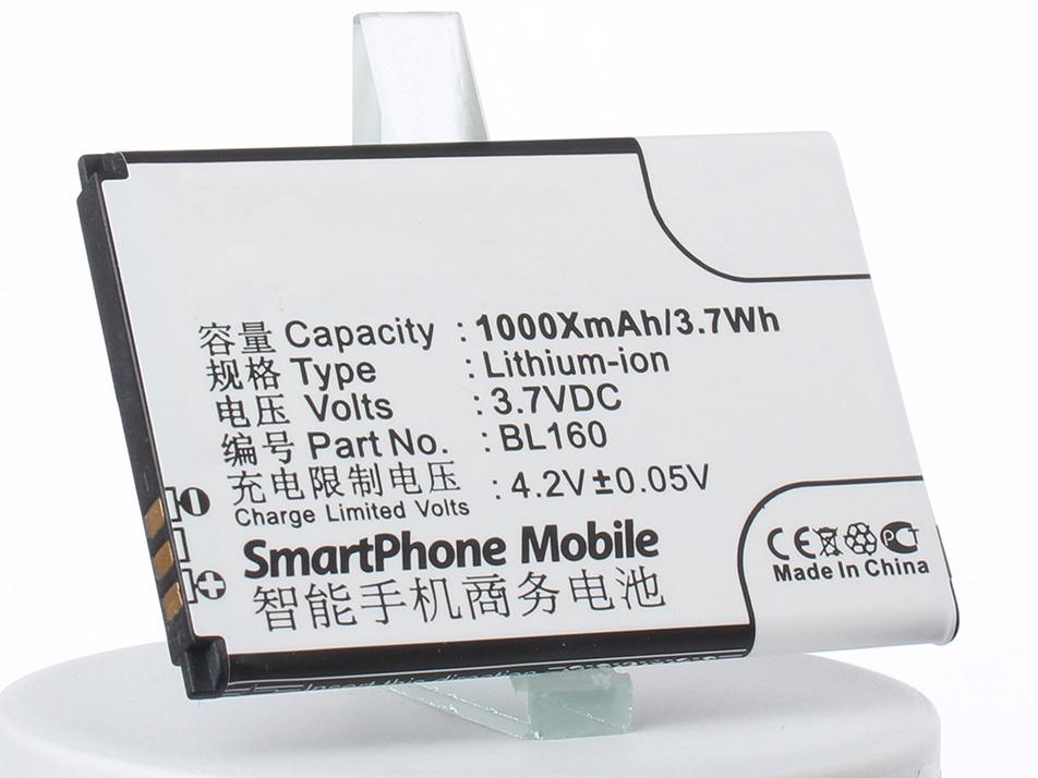 Аккумулятор для телефона iBatt iB-BL160-M2101 аккумулятор для телефона ibatt ib bl160 m2101