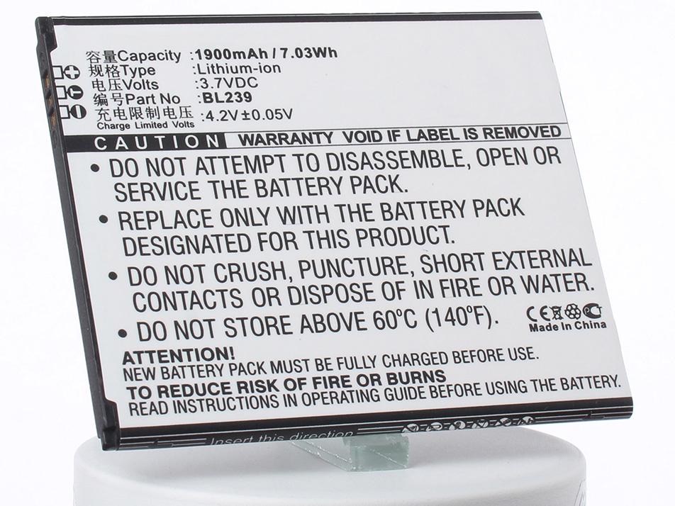 Аккумулятор для телефона iBatt iB-BL239-M2112 аккумулятор для телефона ibatt bl208 для lenovo s920 s920 ideaphone