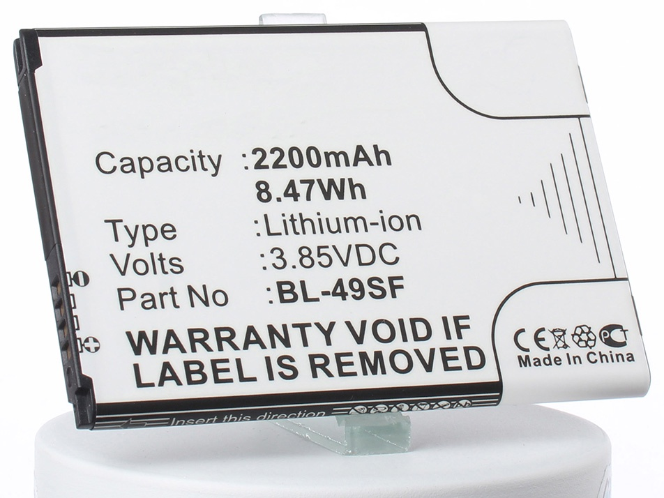 Аккумулятор для телефона iBatt iB-BL-49SF-M2162 цифровая фоторамка digma pf 733 white