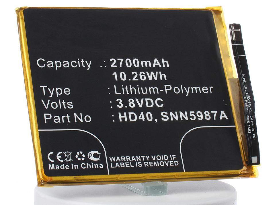 Аккумулятор для телефона iBatt iB-HD40-M2313 аккумулятор для телефона ibatt hc60 для motorola moto c plus xt1723 moto c plus dual sim