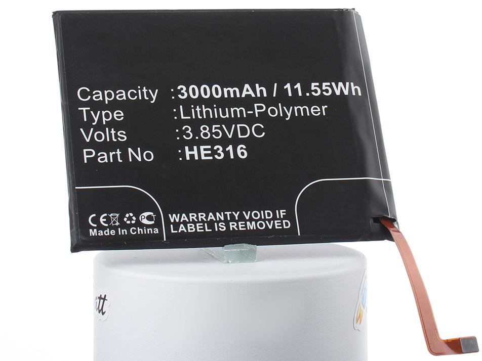 Аккумулятор для телефона iBatt iB-HE316-M2373 аккумулятор для телефона ibatt ib nokia 6 dual sim m2373