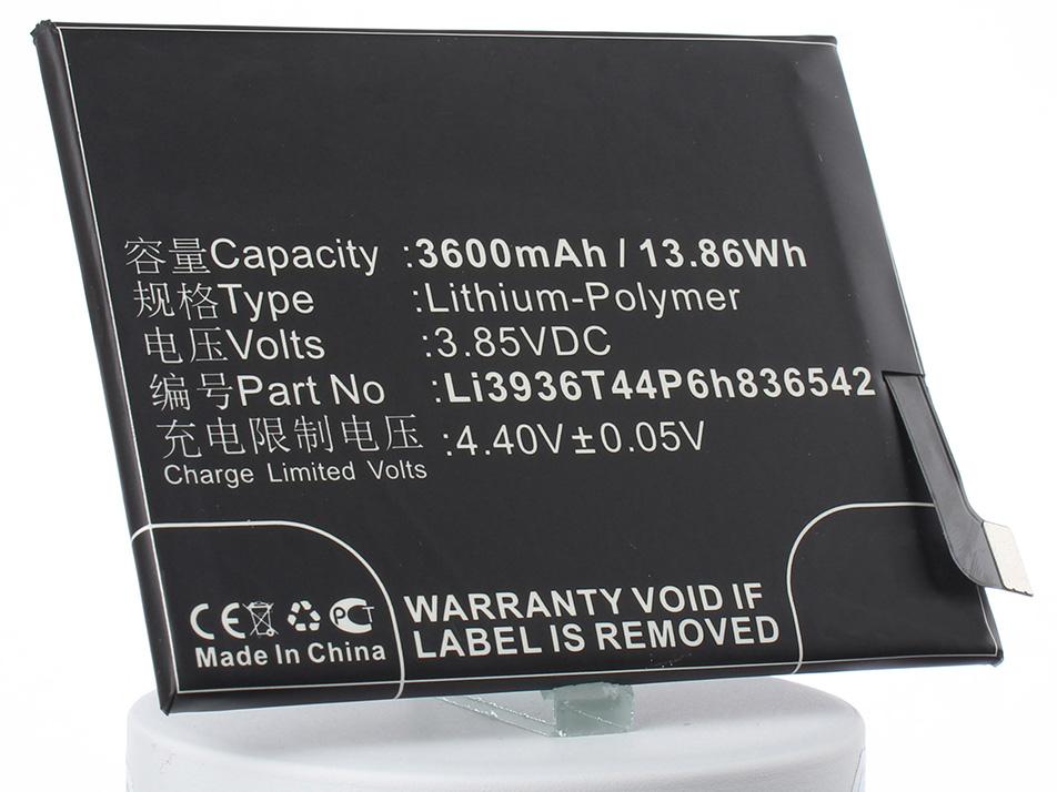 Аккумулятор для телефона iBatt iB-Li3936T44P6h836542-M2389 аккумулятор для телефона ibatt bl250 для lenovo s1a40 s1c50 s1a40 dual sim td lte