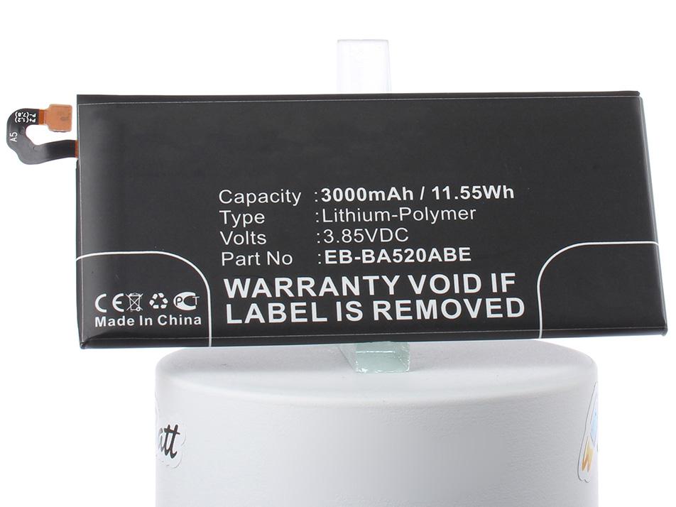 Аккумулятор для телефона iBatt iB-EB-BA520ABE-M2702 внешний аккумулятор samsung eb pn930csrgru 10200mah серый
