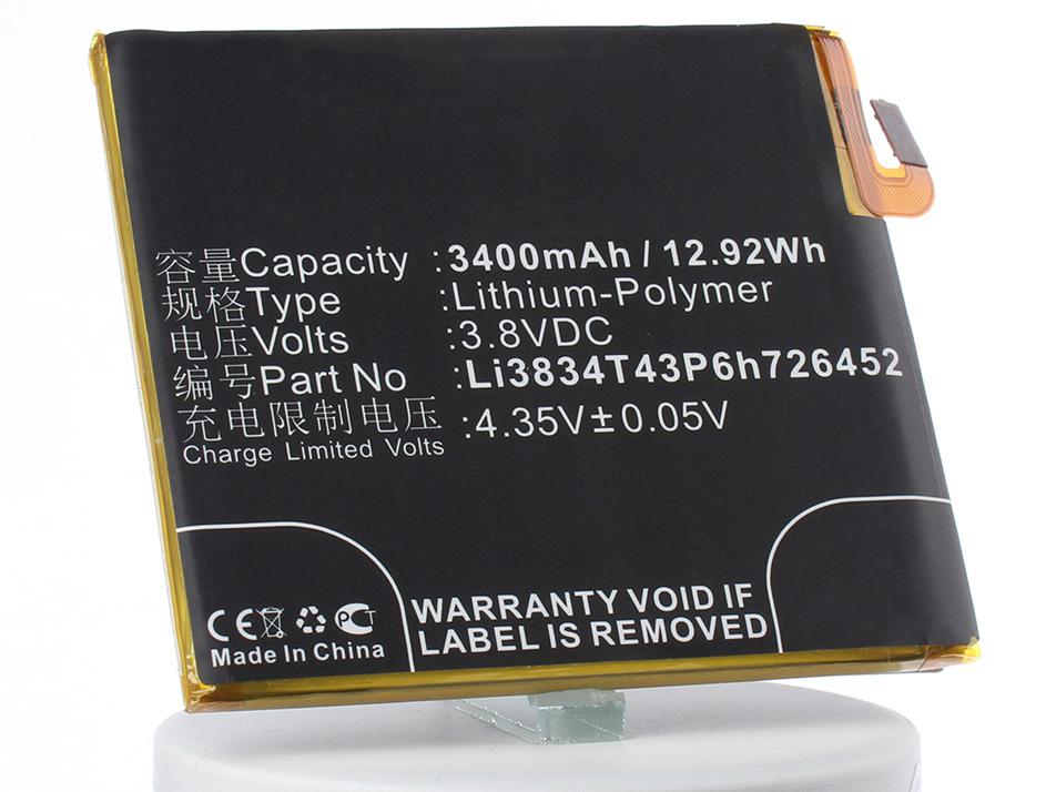 Аккумулятор для телефона iBatt iB-Li3834T43P6h726452-M3077 аккумулятор для телефона ibatt ib lis1502erpc m501