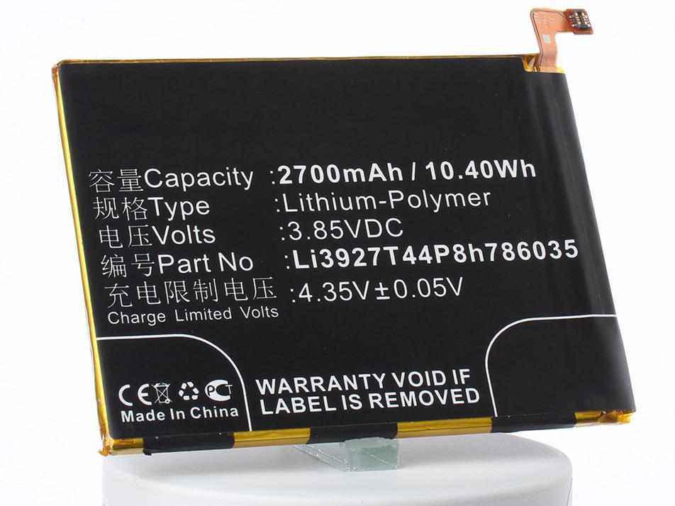 Аккумулятор для телефона iBatt iB-Li3927T44P8h786035-M3083 аккумулятор для телефона ibatt ib lis1502erpc m501
