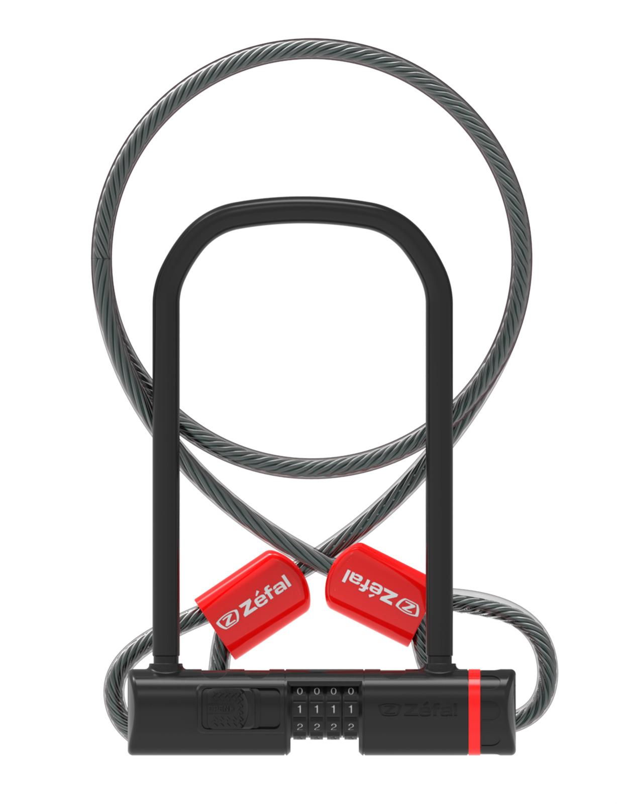 Велозамок кодовый Zefal K-Traz U13 Code + Cable, 4944C, черный