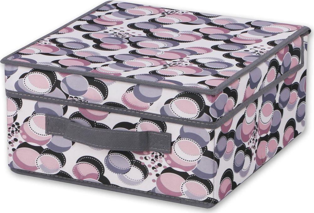 Коробка для хранения Hausmann Chips Multicolor, с крышкой, лиловый, 30 х 30 х 15 см нижнее белье коробка для хранения складные ящики для хранения трусов носки главная хранение и организация