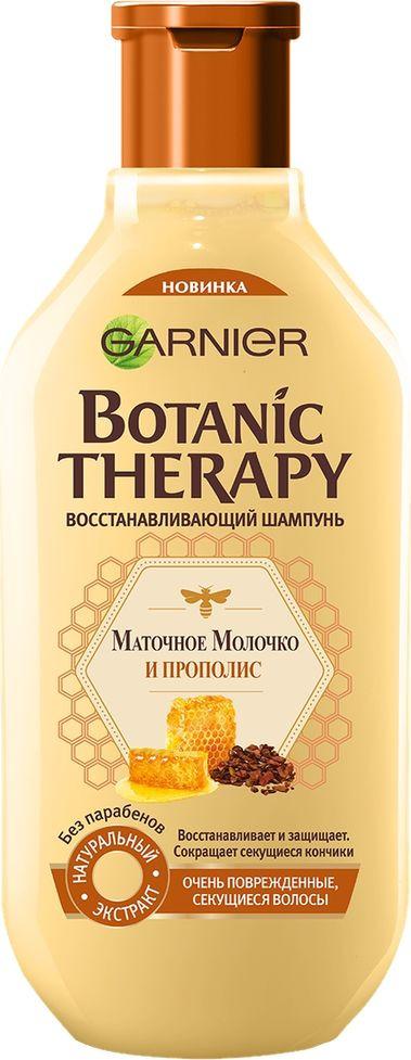 Garnier Шампунь Botanic Therapy. Прополис и маточное молоко для очень поврежденных и секущихся волос, 250 мл garnier набор шампунь и бальзам botanic therapy прополис и маточное молоко garnier