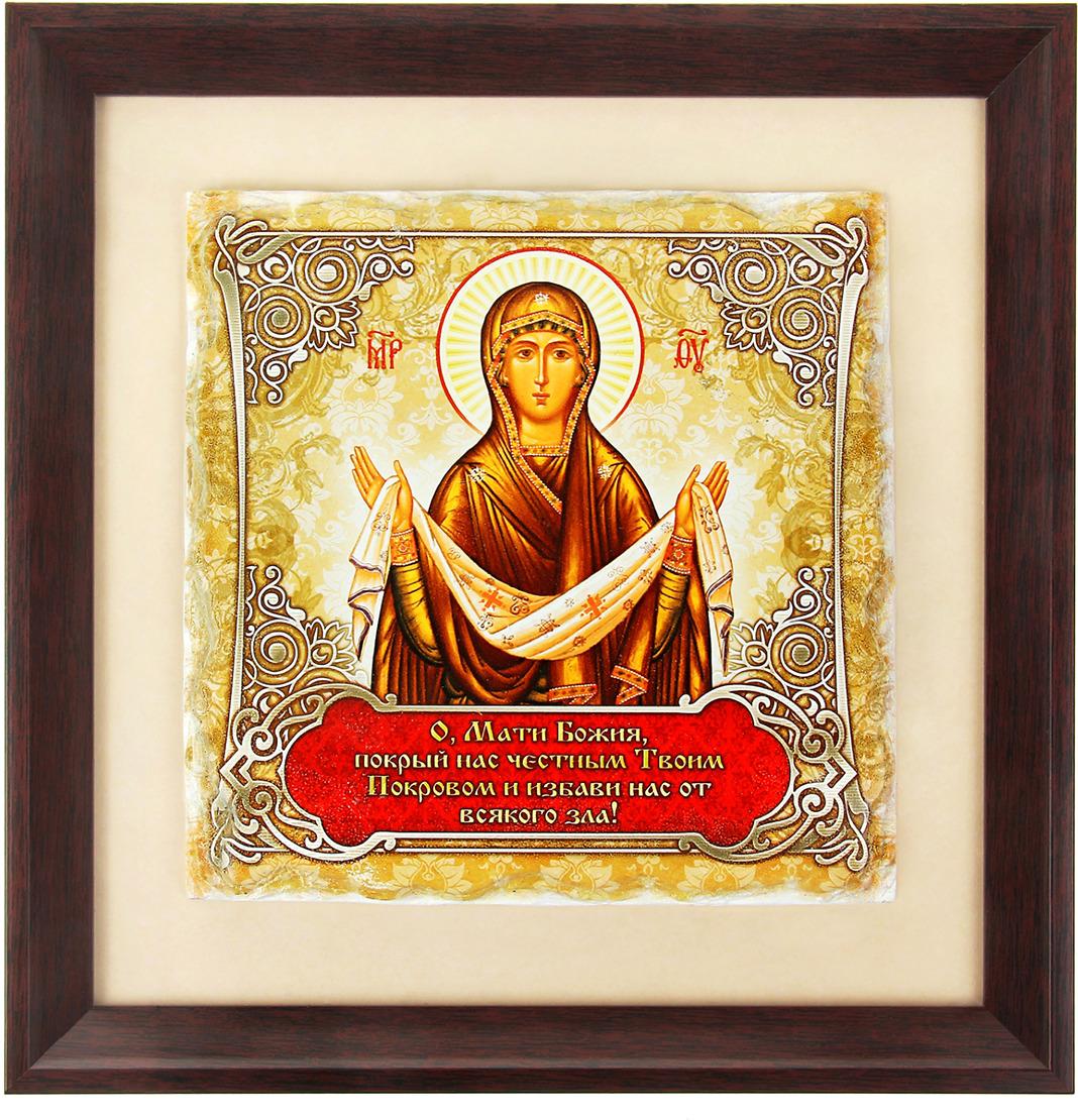 Панно Покрова Пресвятой Богородицы, 189228, 23 х 23 см икона покрова пресвятой богородицы фото