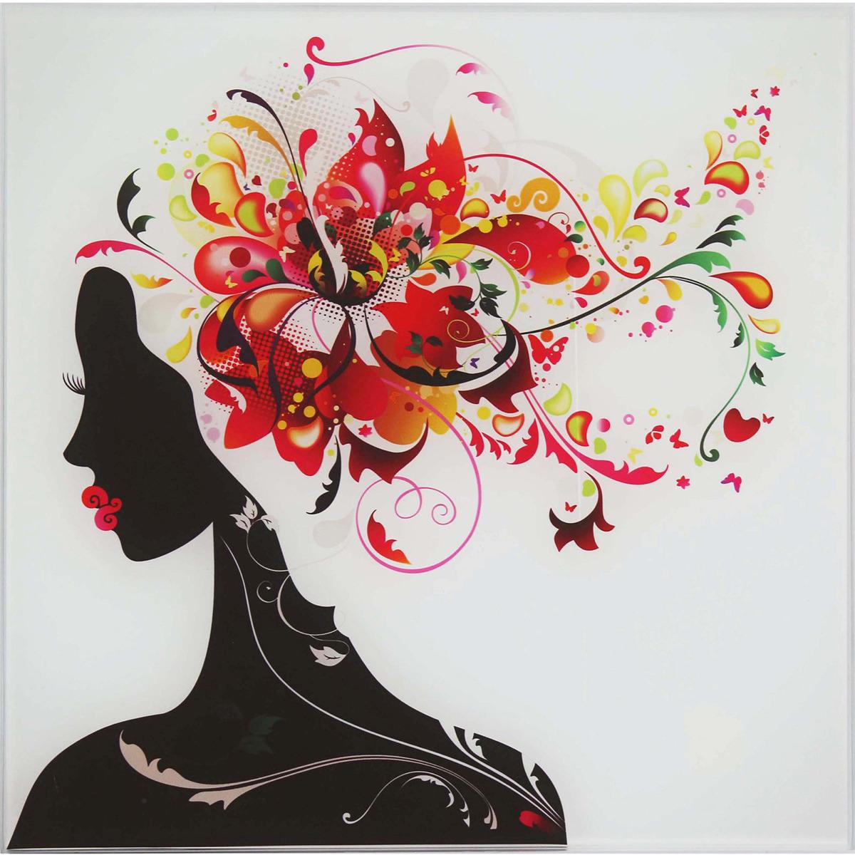 Картина Девушка в цветах лилии, 1177333, 30 х 30 см