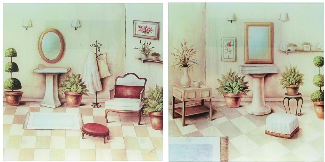 """Картина Идеал """"Ванная комната"""", 2474486, 56 х 28 см"""