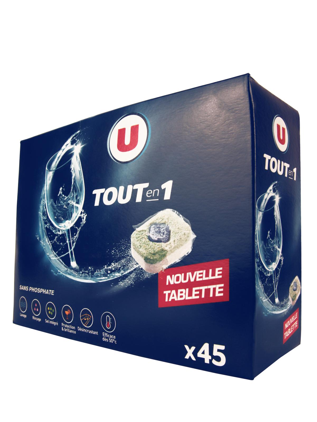 Таблетки для посудомоечной машины U Все в Одном в растворимой оболочке 45 шт Франция таблетки для посудомоечной машины purry nature с натуральной горчицей 84 шт