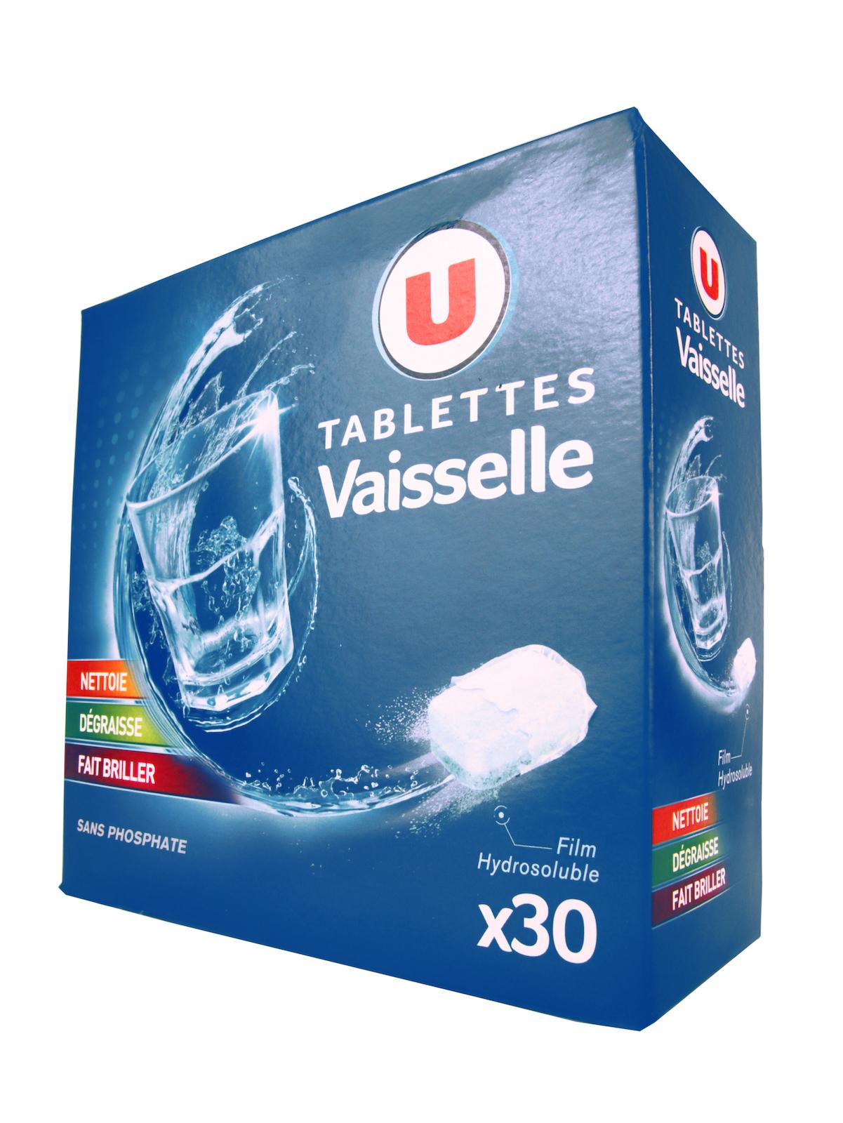 Средство для мытья посуды U Таблетки для посудомоечной машины в растворимой оболочке 30 шт Франция