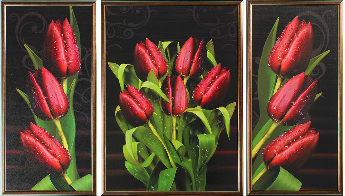 Картина Бордовые тюльпаны. Трихтин, модульная, 2943431, 125 х 73 см картина бордовые тюльпаны трихтин модульная 2943431 125 х 73 см